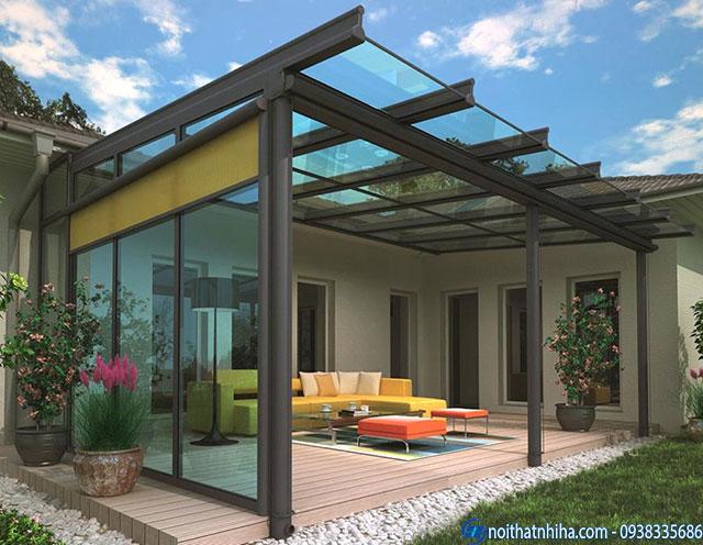Mẫu mái kính sân vườn đẹp nên sử dụng