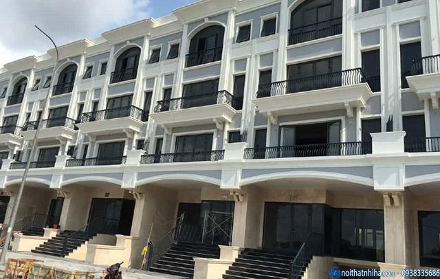 Công trình cửa nhôm kính ban công cho biệt thự liền kề tại Văn Phú Hà Đông Hà Nội