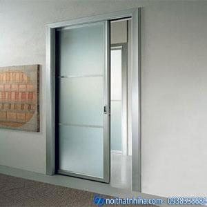 cửa sắt 1 cánh kính cường lực