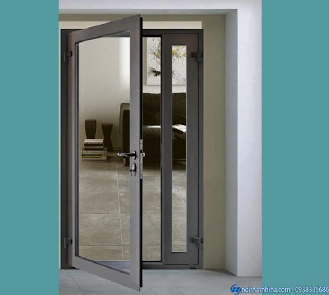 Thiết kế cửa sắt 1 cánh kính cường lực phù hợp cho mọi không gian