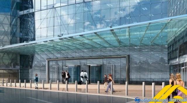 Mái đón kính canopy hiện đại cho trung tâm thương mại