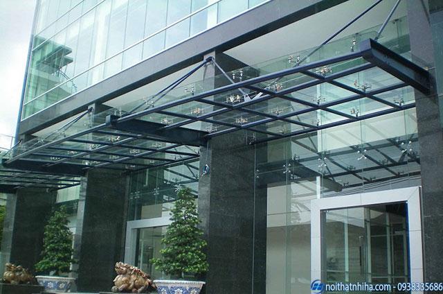 Công trình mái đón kính sảnh chung cư