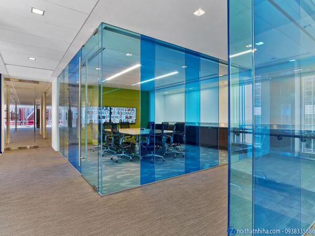Vách kính lửng dùng cho văn phòng