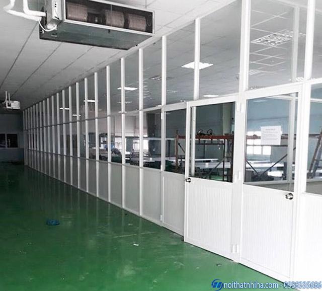 Vách nhôm kính hệ 1000 dùng cho nhà xưởng