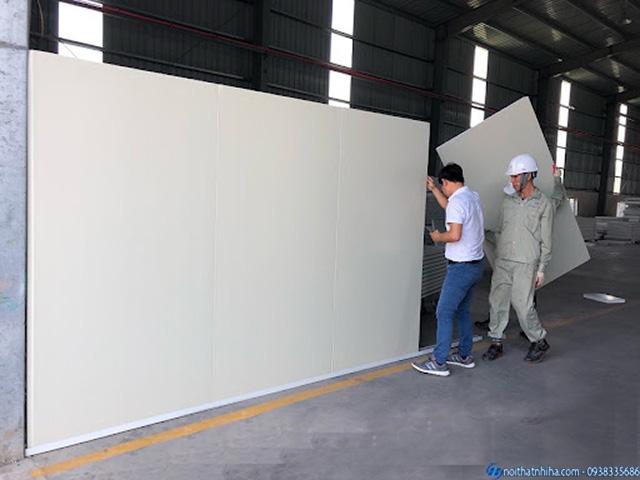 Thi công vách panel xốp