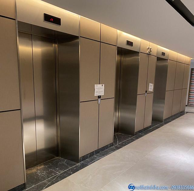 Công trình ốp inox cho thang máy